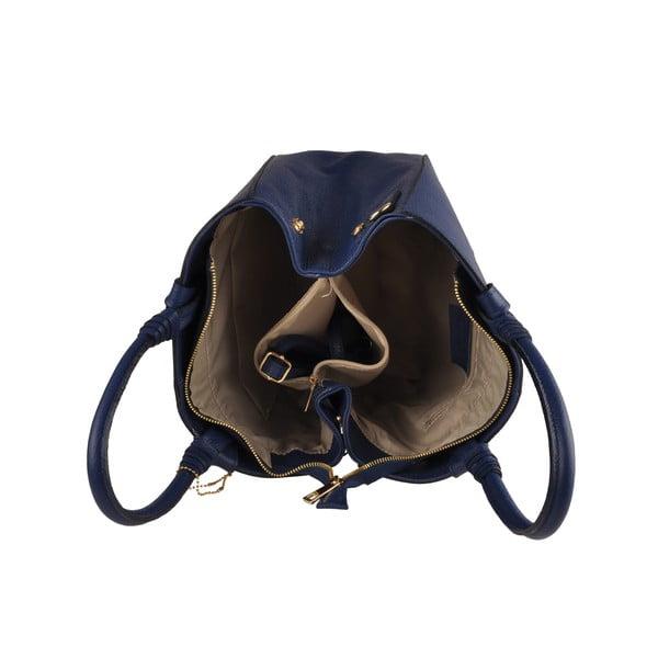 Kožená kabelka Emilio Masi Bristol, námořnická modř