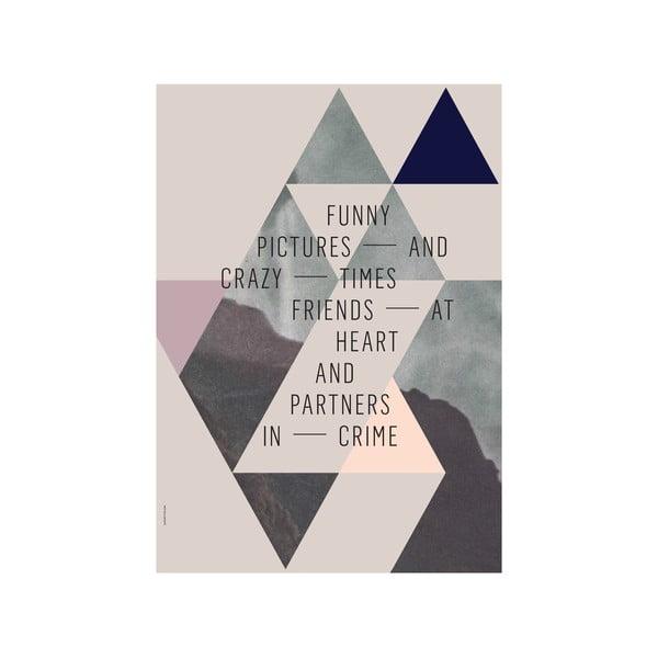 Autorský plakát Friends, 50x70 cm