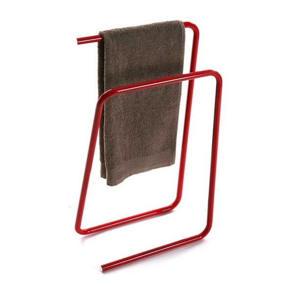 Červený kovový stojan na ručníky Versa