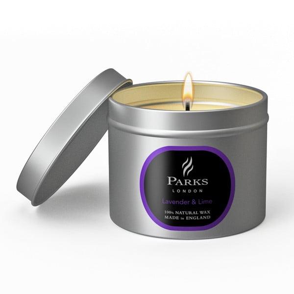Lumânare Parks London, 25 de ore de ardere, aromă levănțică și limetă