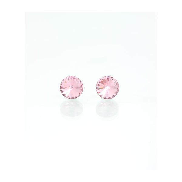 Náušnice Swarovski Crystals Rosa, 8 mm