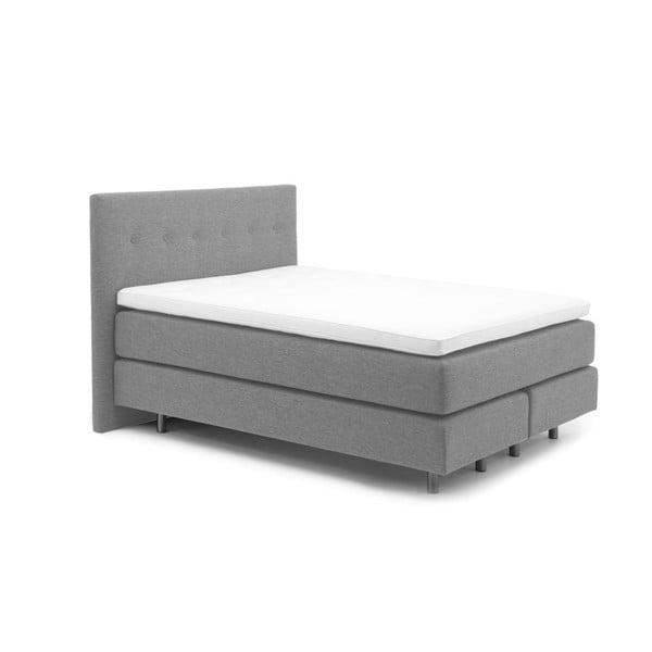 Středně šedá boxspring postel Vivonita Lando, 140x200cm