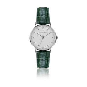 Pánské hodinky s tmavě zeleným páskem z pravé kůže Frederic Graff Silver Dent Blanche Croco Dark Green
