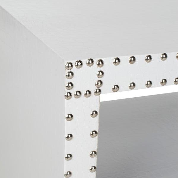 Odkládací stolek Tahla, bílý
