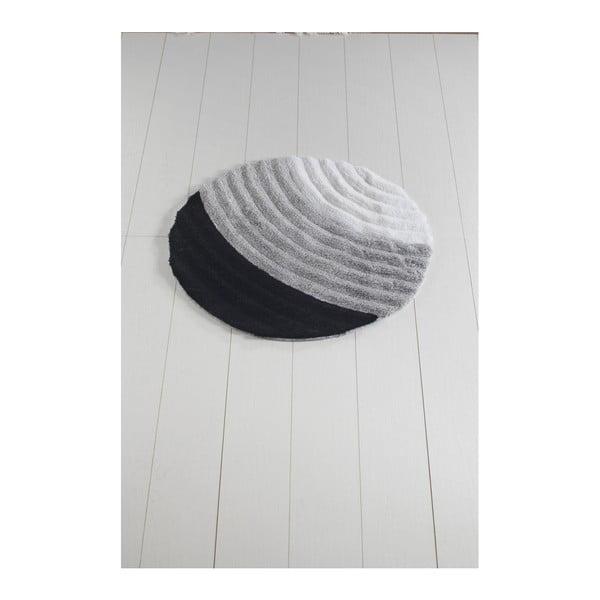 Šedá koupelnová předložka Well Cap, ⌀ 90 cm