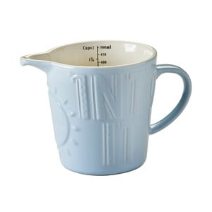 Cană gradată din ceramică Bake My Day Blue, 0,5 l