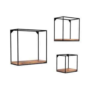 Set 3 etajere din lemn masiv de pin Fato