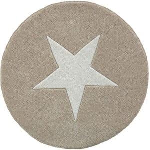 Vlněný koberec Star Beige, 130 cm