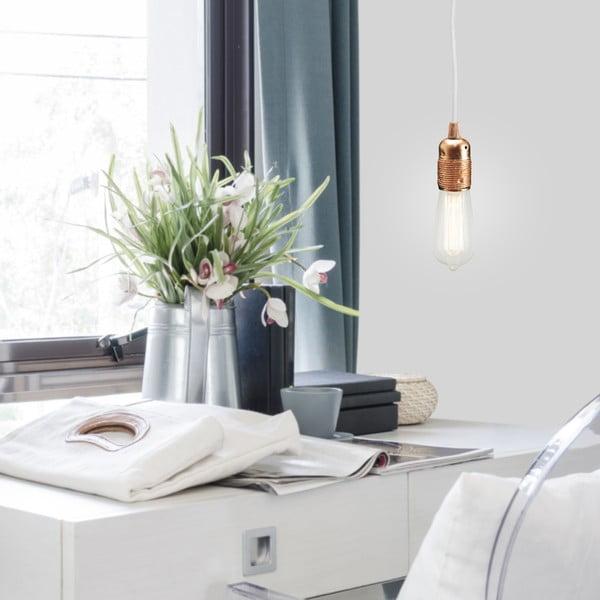 Trojitý bílý kabel s objímkou ve stříbrné barvě Bulb Attack Uno