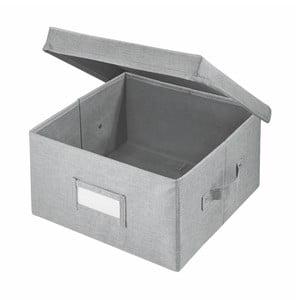 Šedý úložný box iDesign Codi, 33 x 29,8 cm