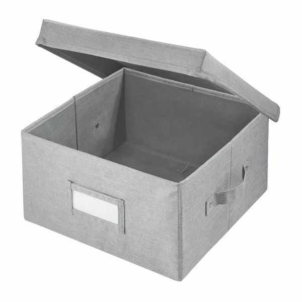 Cutie pentru depozitare iDesign Codi, 33 x 29,8 cm, gri