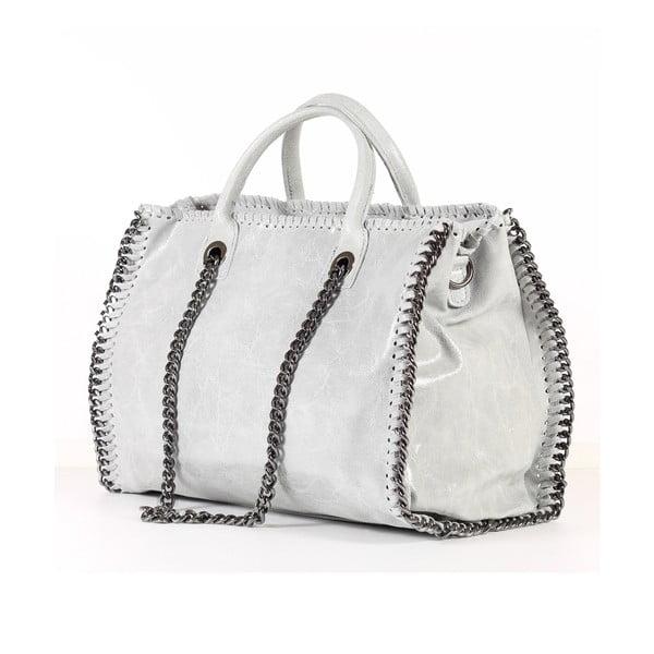 Kožená kabelka Gloria, bílá