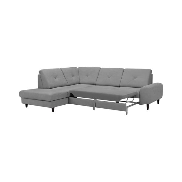 Světle šedá rohová rozkládací pohovka Windsor & Co Sofas, levý roh Beta