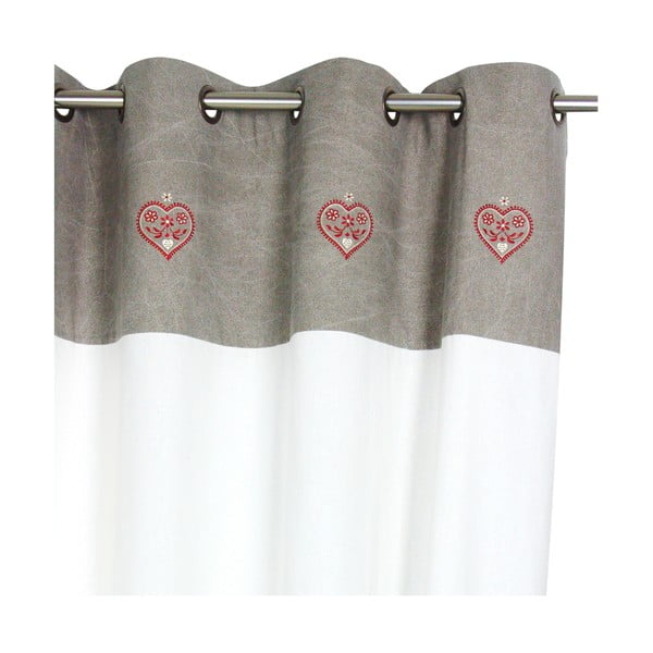 Draperie Antic Line Heart, 150 x 260 cm