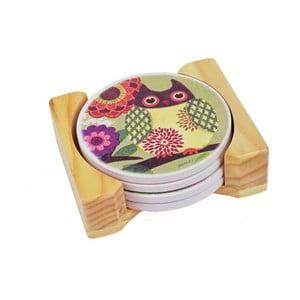 Suporturi pentru pahare Ego dekor Owl, 4 buc.