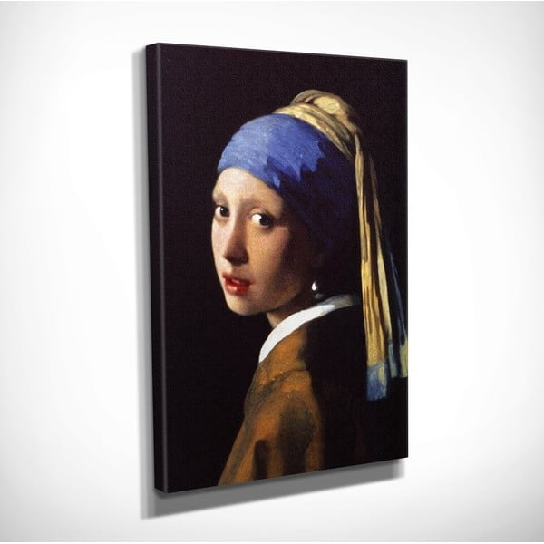 Reproducere tablou pe pânză Johannes Vermeer The Girl with Pearl, 30 x 40 cm