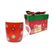 Cană din porțelan chinezesc cu motive de Crăciun ambalată în cutie muzicală Silly Design Let it Glow, 320ml