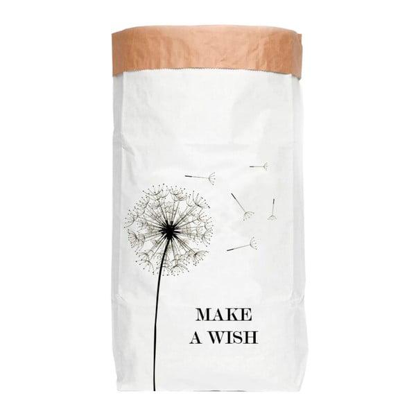 Úložný pytel z recyklovaného papíru Surdic Make a Wish