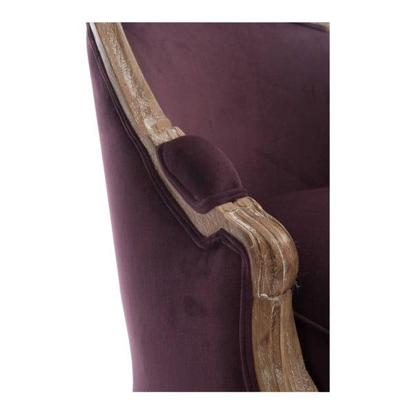 Vínové dubové křeslo Aubergine