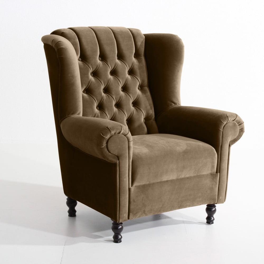 fotoliu max winzer vary velvet maro deschis bonami. Black Bedroom Furniture Sets. Home Design Ideas