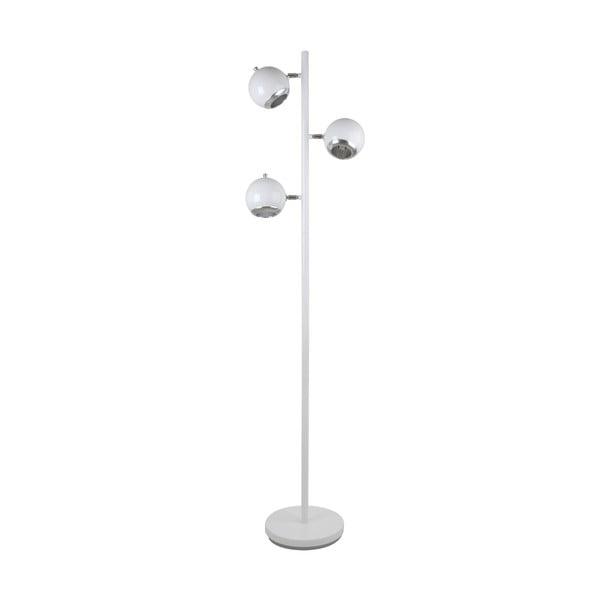 Retro stojací lampa se 3 žárovkami, bílá