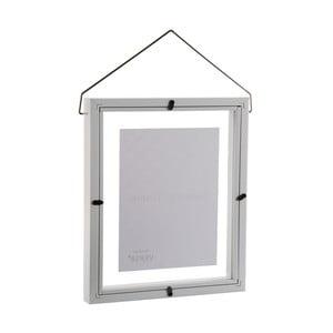 Bílý závěsný fotorám VERSA, na fotografii 13 x 18 cm