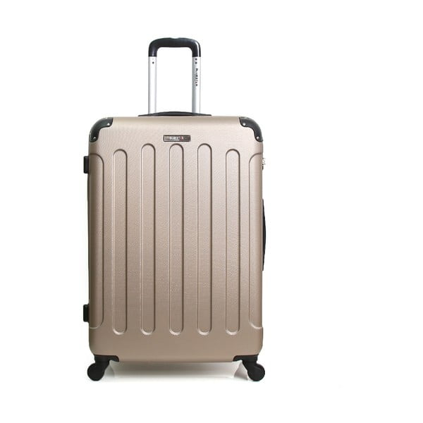 Cestovný kufor ve zlaté farbe na kolieskách BlueStar Madrid, 31 l