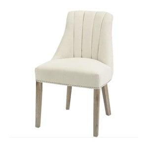 Krémová jídelní židle s přírodními nohami Artelore Jenkins