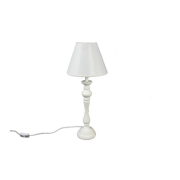 Stolní lampa Wood White, 48,5 cm