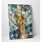 Obraz na plátně Žena se sklenkou vína, 50x70 cm