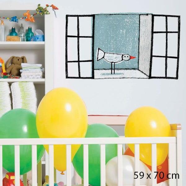 Samolepka Rustic Window, 59x70 cm