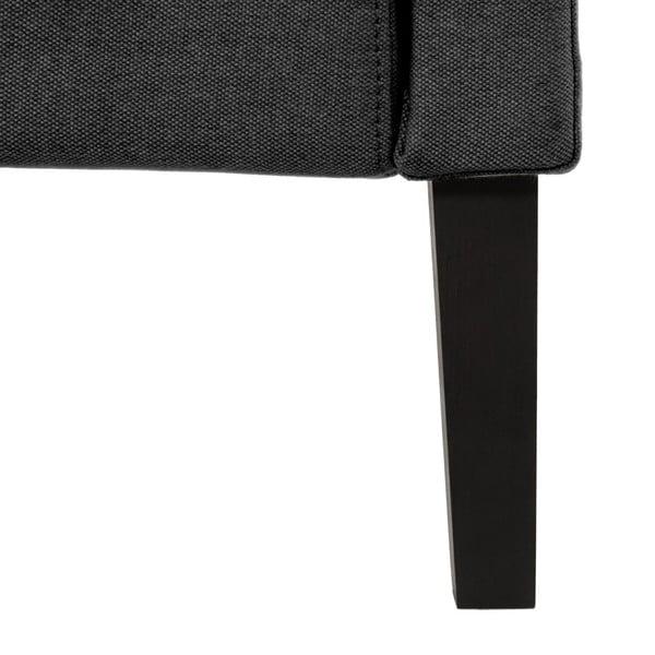 Černá postel s černými nohami Vivonita Windsor,140x200cm