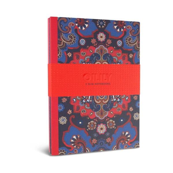 Sada 3 linkovaných zápisníků Portico Designs Oilily, 80 stránek