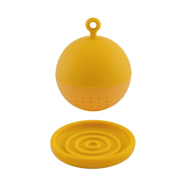 Plovací čajové sítko Floating, žluté