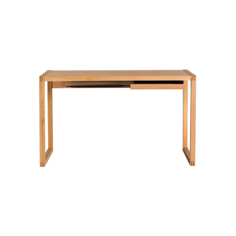 Pracovní stůl z dubového dřeva Wermo Renfrew, 126x55cm