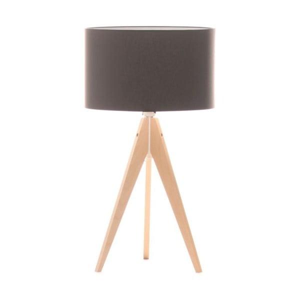 Hnědá stolní lampa 4room Artist, bříza, Ø 33 cm