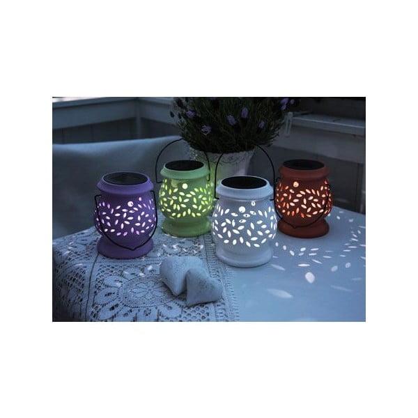 Fialová venkovní LED lucerna Best Season Clay Lilac