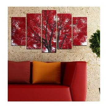 Tablou din mai multe piese 3D Art Red Passion, 102 x 60 cm de la 3D Art