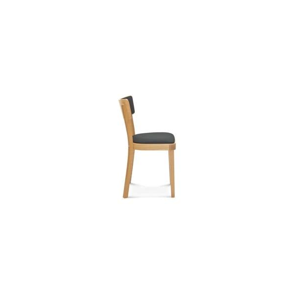 Dřevěná židle s šedým polstrováním Fameg Lone