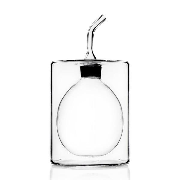 Szklana butelka na olej/oliwę z podwójną ścianką Cilindro