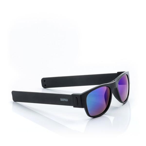 Ochelari de soare pliabili InnovaGoods Sunfold ES3, negru - albastru