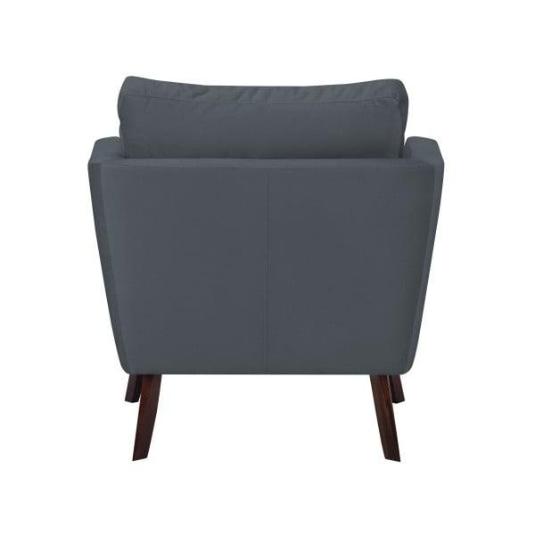 Tmavě šedé křeslo Mazzini Sofas Cotton