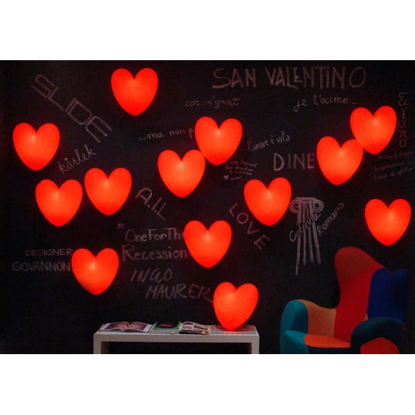 Nástěnná lampa Love, červená