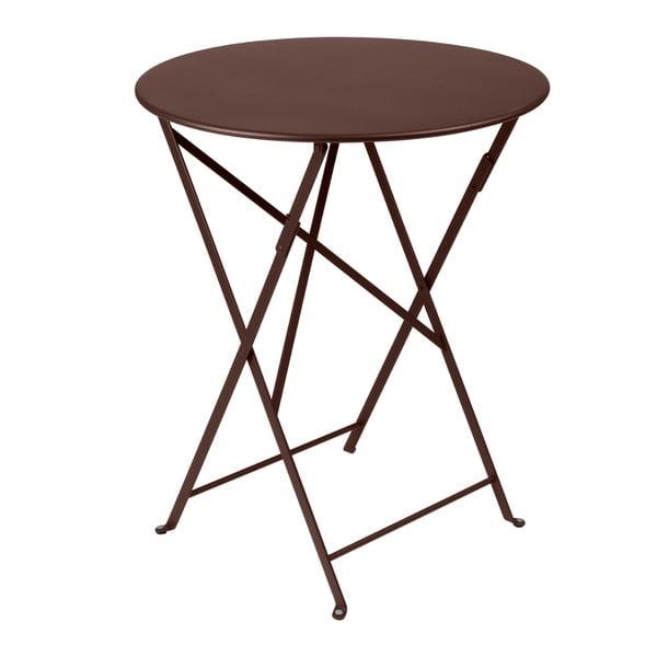 Hnědý skládací kovový stůl Fermob Bistro