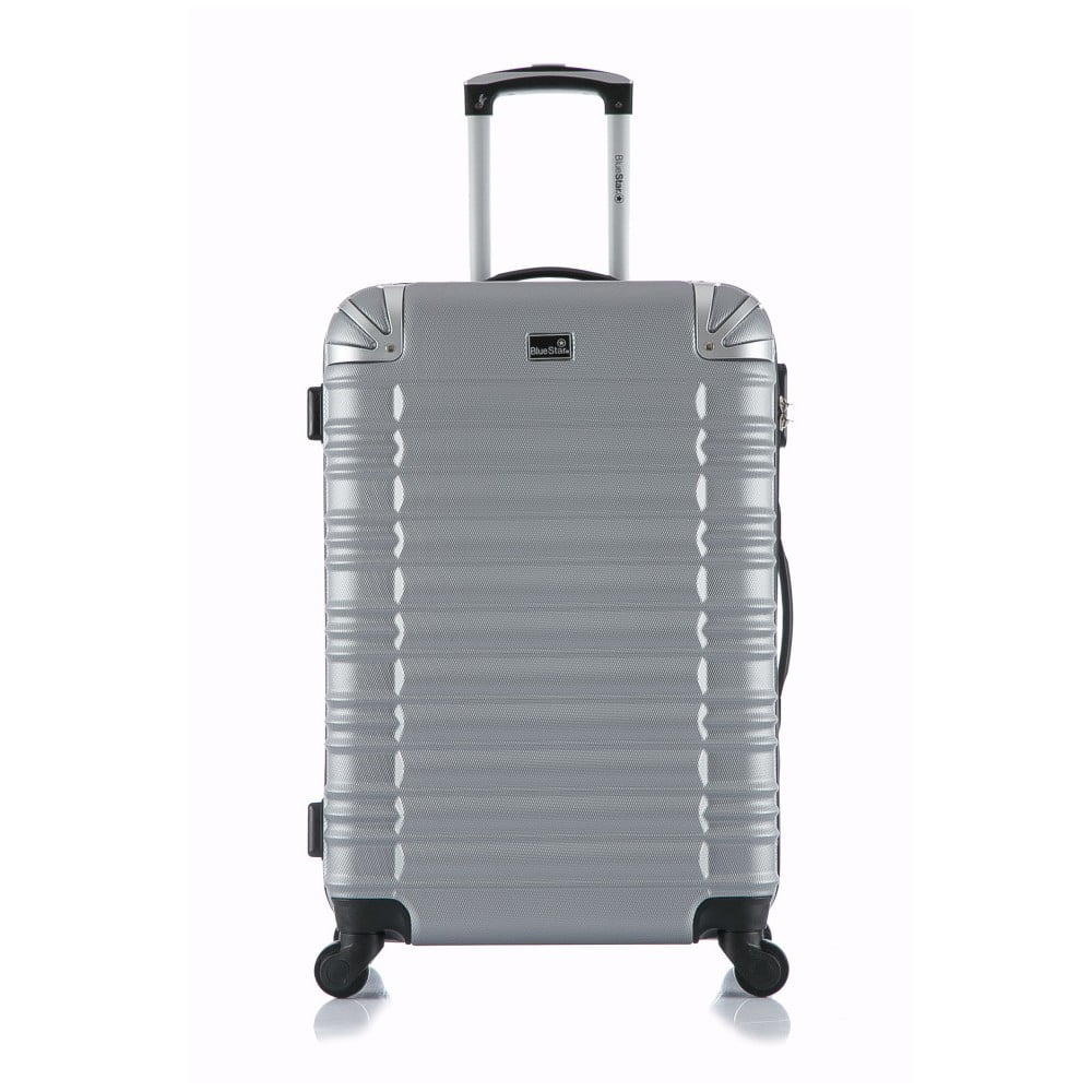 Cestovní kufr ve stříbrné barvě na kolečkách Blue Star Lima, 31 l
