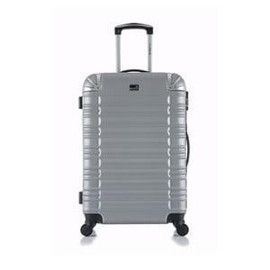 Cestovní kufr ve stříbrné barvě na kolečkách BlueStar Lima,31l