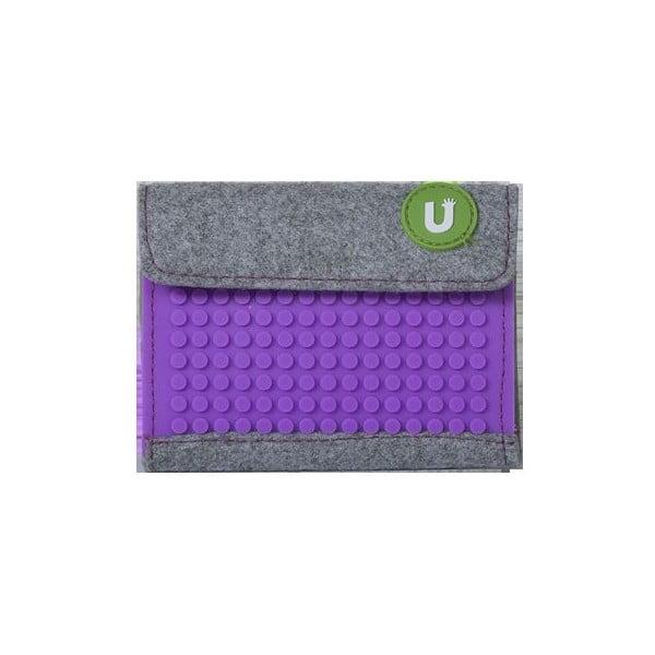 Pixelová peněženka grey/purple