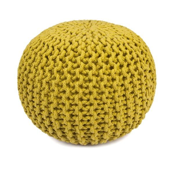 Žltý sedací puf HF Living Round, ⌀45cm