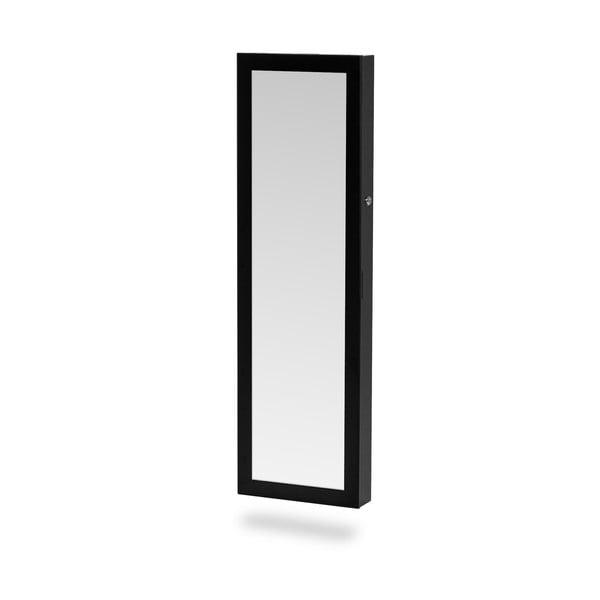 Černá závěsná šperkovnice se zrcadlem Chez Ro Bien