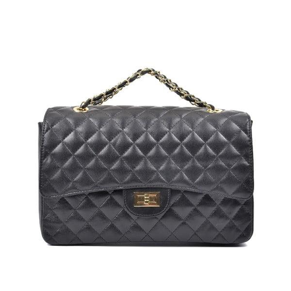 Čierna kožená kabelka Carla Ferreri Virginia